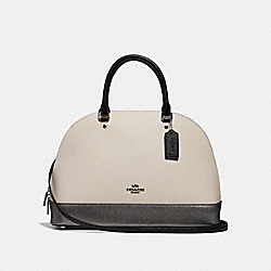 SIERRA SATCHEL IN COLORBLOCK - CHALK MULTI/SILVER - COACH F31074