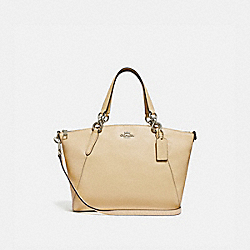 SMALL KELSEY SATCHEL WITH DAISY BUNDLE PRINT INTERIOR - VANILLA/SILVER - COACH F31075