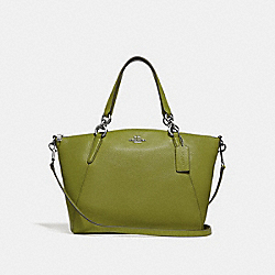 SMALL KELSEY SATCHEL WITH FLORAL BUD PRINT INTERIOR - YELLOW GREEN/SILVER - COACH F31076