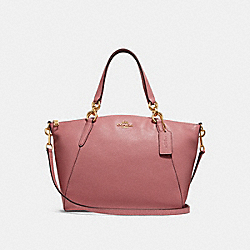 SMALL KELSEY SATCHEL WITH DITSY FLORAL PRINT INTERIOR - VINTAGE PINK/IMITATION GOLD - COACH F31077