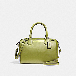 MINI BENNETT SATCHEL WITH FLORAL BUNDLE PRINT INTERIOR - YELLOW GREEN/SILVER - COACH F31083