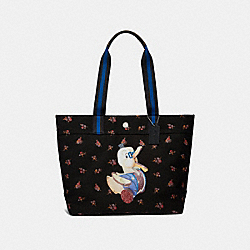 FISHER-PRICE DOODLE DUCK TOTE - SILVER/BLACK MULTI - COACH F31108