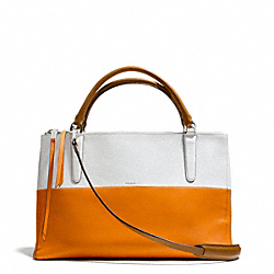 COACH THE COLORBLOCK RETRO BOARSKIN LEATHER BOROUGH BAG - UECKS - F31121