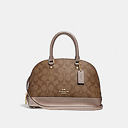 MINI SIERRA SATCHEL IN SIGNATURE CANVAS - KHAKI/PLATINUM/LIGHT GOLD - COACH F31156