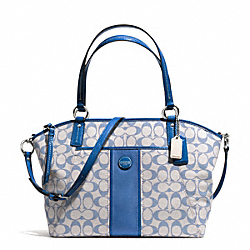 COACH SIGNATURE STRIPE POCKET TOTE - SILVER/GREY CHAMBRAY - F31161