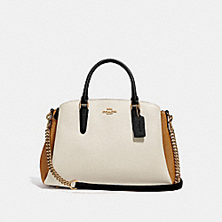 SAGE CARRYALL IN COLORBLOCK - CHALK MULTI/IMITATION GOLD - COACH F31170