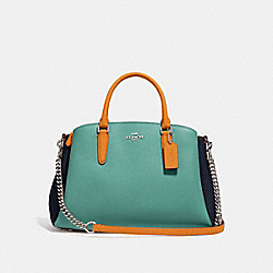 SAGE CARRYALL IN COLORBLOCK - SILVER/BLUE MULTI - COACH F31170