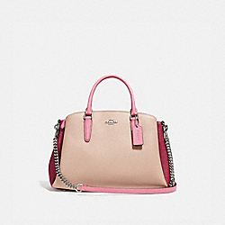 SAGE CARRYALL IN COLORBLOCK - SILVER/PINK MULTI - COACH F31170