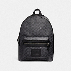 ACADEMY BACKPACK IN SIGNATURE CANVAS - QB/CHARCOAL - COACH F31216