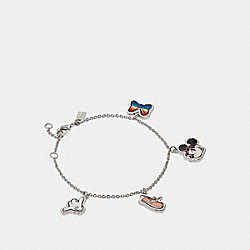 COACH MINNIE MOUSE CHARM BRACELET - MULTI/SILVER - F31235