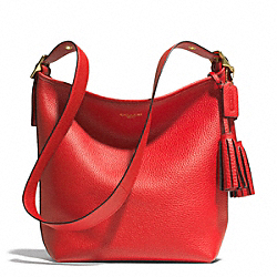 COACH LEATHER DUFFLE - BRASS/VERMILLION - F31242