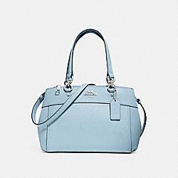 COACH MINI BROOKE CARRYALL - PALE BLUE/SILVER - F31251