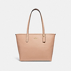 CITY ZIP TOTE - BEECHWOOD/LIGHT GOLD - COACH F31254