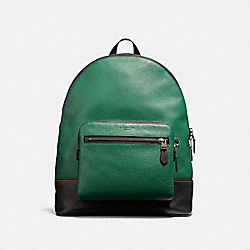 COACH WEST BACKPACK - GREEN/BLACK ANTIQUE NICKEL - F31274