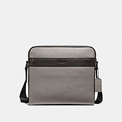 CHARLES CAMERA BAG - HEATHER GREY/BLACK ANTIQUE NICKEL - COACH F31275
