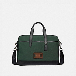 COACH HAMILTON BAG IN CORDURA - RACING GREEN/BLACK ANTIQUE NICKEL - F31277