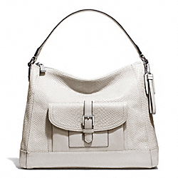 COACH CHARLIE PYTHON HOBO - SILVER/PARCHMENT - F31283