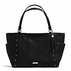 COACH PARK STUDDED CARRIE TOTE - SILVER/BLACK - F31286