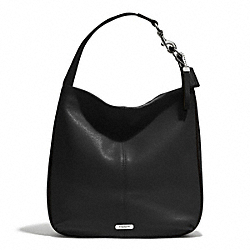 PARK AVERY STUDDED HOBO - SILVER/BLACK - COACH F31287