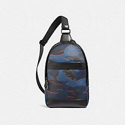 COACH CHARLES PACK WITH CAMO PRINT - BLUE MULTI/BLACK ANTIQUE NICKEL - F31299