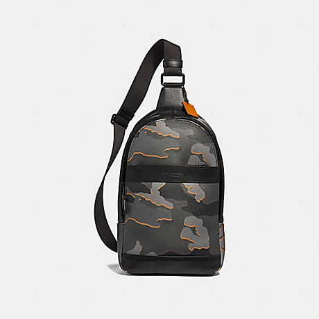 COACH CHARLES PACK WITH CAMO PRINT - GREY MULTI/BLACK ANTIQUE NICKEL - F31299