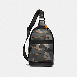 COACH CHARLES PACK WITH CAMO PRINT - ANTIQUE NICKEL/GREY MULTI - F31299