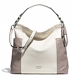 PARK COLORBLOCK HOBO - SILVER/PARCHMENT/PUTTY - COACH F31304