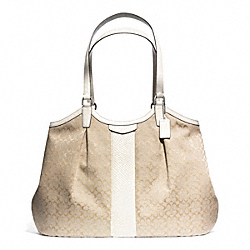 SIGNATURE STRIPE DEVIN SHOULDER BAG - f31307 - 30413