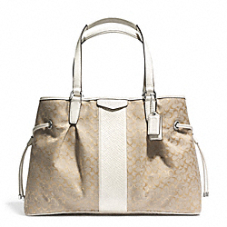 COACH SIGNATURE STRIPE DRAWSTRING CARRYALL - ONE COLOR - F31308