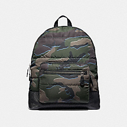 WEST BACKPACK WITH CAMO PRINT - GREEN MULTI/BLACK ANTIQUE NICKEL - COACH F31319
