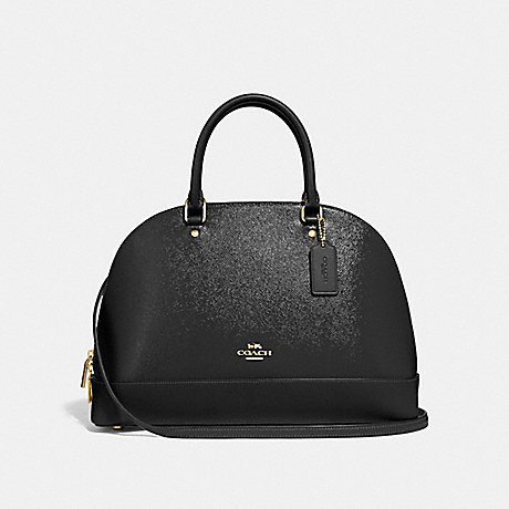 COACH SIERRA SATCHEL - BLACK/LIGHT GOLD - F31352