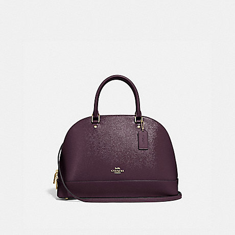 COACH SIERRA SATCHEL - OXBLOOD 1/LIGHT GOLD - F31352
