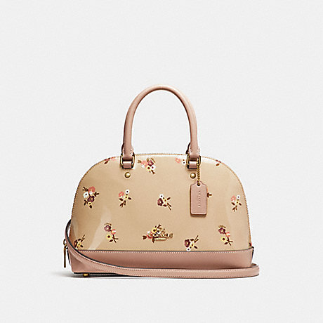 COACH MINI SIERRA SATCHEL WITH BABY BOUQUET PRINT - BEECHWOOD MULTI/LIGHT GOLD - F31354