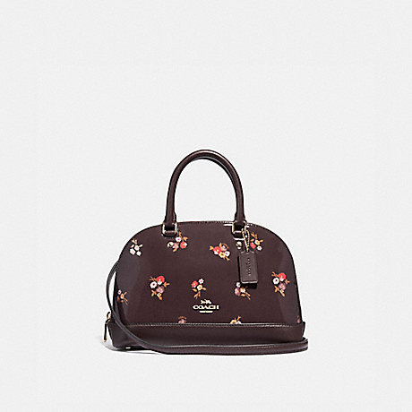 COACH MINI SIERRA SATCHEL WITH BABY BOUQUET PRINT - OXBLOOD MULTI/LIGHT GOLD - F31354