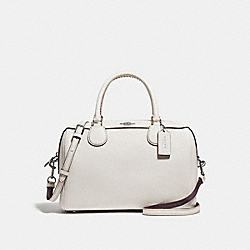 LARGE BENNETT SATCHEL - CHALK/SILVER - COACH F31375