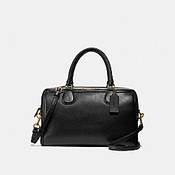 LARGE BENNETT SATCHEL - BLACK/LIGHT GOLD - COACH F31376