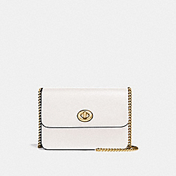 BOWERY CROSSBODY WITH SIGNATURE CANVAS - LIGHT KHAKI/CHALK/IMITATION GOLD - COACH F31384