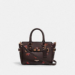 MINI BLAKE CARRYALL WITH BABY BOUQUET PRINT - IM/OXBLOOD MULTI - COACH F31398