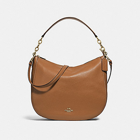 COACH ELLE HOBO - LIGHT SADDLE/IMITATION GOLD - F31399