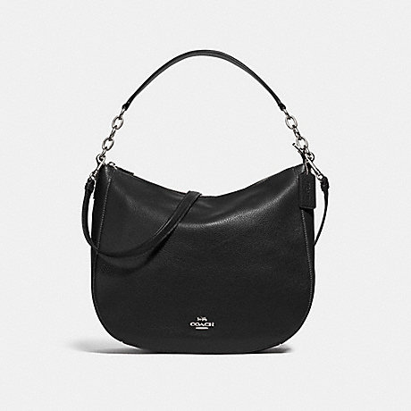 COACH ELLE HOBO - BLACK/SILVER - F31399