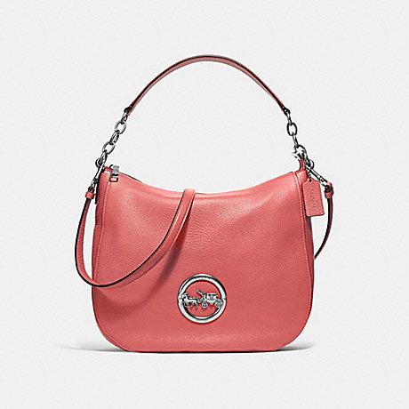 COACH ELLE HOBO - ROSE PETAL/SILVER - F31400
