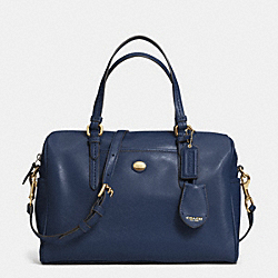 COACH PEYTON LEATHER NANCY SATCHEL - INK BLUE - F31403