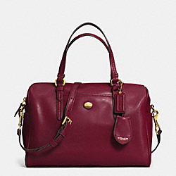 COACH PEYTON LEATHER NANCY SATCHEL - IM/SHERRY - F31403