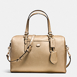 COACH PEYTON LEATHER NANCY SATCHEL - IM/GOLD - F31403