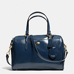 PEYTON LEATHER NANCY SATCHEL - f31403 - IM/NAVY