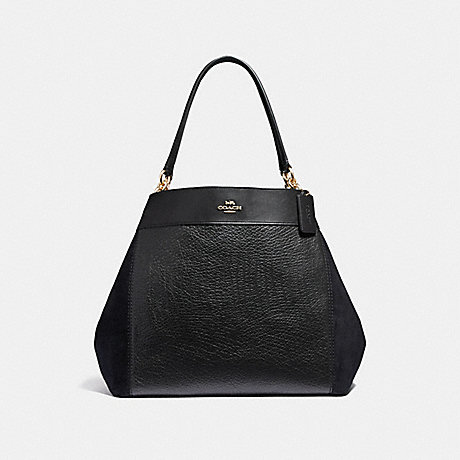 COACH LARGE LEXY SHOULDER BAG - BLACK/LIGHT GOLD - F31415