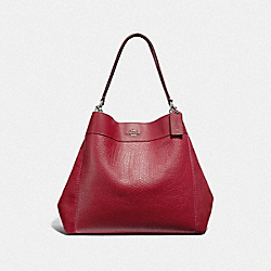 COACH LARGE LEXY SHOULDER BAG - CHERRY/SILVER - F31415