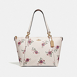 AVA TOTE WITH MINI MAGNOLIA BOUQUET PRINT - CHALK MULTI/LIGHT GOLD - COACH F31417