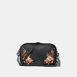 COACH ISLA CHAIN CROSSBODY WITH TATTOO EMBROIDERY - BLACK MULTI/BLACK ANTIQUE NICKEL - F31432