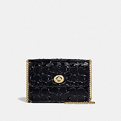 BOWERY CROSSBODY IN SIGNATURE LEATHER - BLACK/BLACK/LIGHT GOLD - COACH F31440